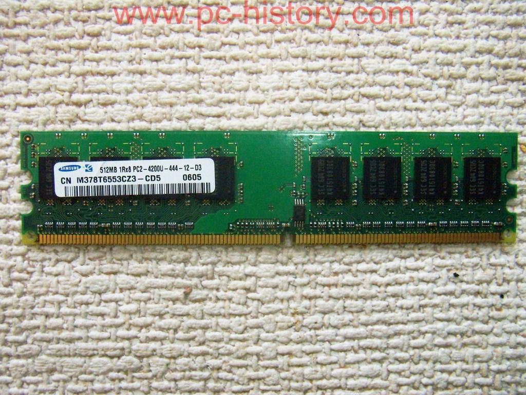 Samsung Desktop Memory Ram 1Rx8 PC2-4200U CN M378T6553CZ3-CD5 4 x 512MB 2GB